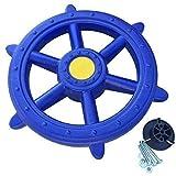 Loggyland Schiffslenkrad Piratenlenkrad Lenkrad Ø 48cm blau - für Kletterturm Spielschiff...