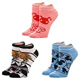 Bioworld Merchandising / Independent Sales Kingdom Hearts 3 Pack Juniors Ankle Socks Standard