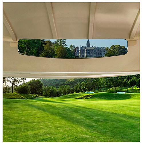 9Golf00 Golf Cart Rear View Mirror Extra Wide 180 Degree Panoramic Fit for Most Golf Carts EzGo Club Car Yamaha