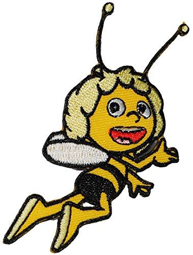 alles-meine.de GmbH Bügelbild -  Biene Maja  - 6,5 cm * 7 cm - Aufnäher - Applikation / Kinder - Maya Bienen - Aufbügelbild / Aufbügler - Honigbiene / Honig