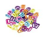 Brandani 55256 stampi per Biscotti Auguri Lettere e Numeri Set 36 Pezzi, Multicolore 13 x 10 cm
