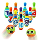 YEIBOBO ! Kids Bowling Toy Set, Indoor Outdoor Bowling Game Set for Kids (10 Pins & 2 Bowling)