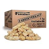 FLAMMBURO (5 kg) Öko-Anzündwolle, Holzwolle, zertifizierter Holz-Ursprung, FSC®-zertifiziertes Produkt, pflanzliches Wachs, ökologische Grillanzünder, Kaminanzünder, 5 kg