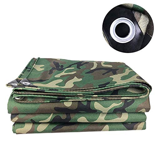 FCXBQ Large Heavy Duty Tarpaulin Waterproof Tarps Camouflage, with Grommets | Heavy Duty Cover for Patio, Camping, Tent Fly, Painting, Canopy Tarpaulin Waterproof Heavy Duty,4.5X7M