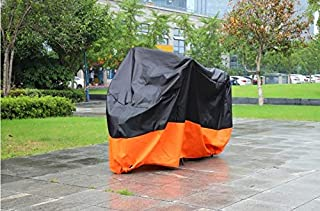carbonbicycle Motorcycle Cover for Honda Goldwing 1500 1800 Touring UV Dust Prevention XXL Black & Orange