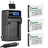 Kastar 3-Pack DB-L80 Battery and LCD AC...