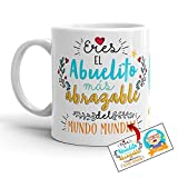Kembilove Taza para Abuelo – Tazas de Desayuno Graciosa para Abuelos con Mensaje Eres el Abuelito mas Agradable – Taza Original el Día del Padre