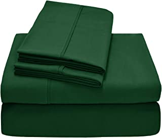 Empire Home Greek Collection Bed Sheet Set - Brushed Microfiber 1800 Bedding - Hypoallergenic 4-Piece Set (Forest Green, Full Size)