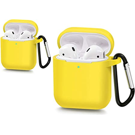 Cute Keychain Yellow Silicone Cover for AirPods Gen 1 Foodie Gen 2 Chicken Nugget AirPod Case with Keychain Cute AirPods Case