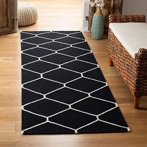 Safavieh Dhurries Collection DHU635A Handmade Flatweave Premium Wool Runner, 2