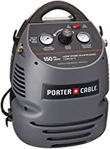 PORTER-CABLE Air Compressor Kit, 1.5 Gallon, Oil-Free, Fully Shrouded, Hand Carry, 25-Feet Hose (CMB15)
