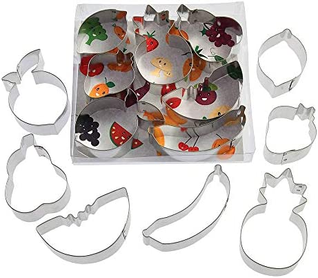Fruit Cookie Cutter 7 Pc Set B1486 2 75 in Lemon 3 25 in Pear 3 5 in Watermelon 3 5 in Peach product image