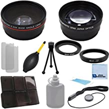 37mm 0.43x Wide Angle Lens + 2.2x Telephoto Lens with an eCostConnection Deluxe Lens Accessories Kit for Olympus OM-D w/ 14-42mm Lens & 45mm Lens, E-P15 w/ 14-42mm Lens, E-PM2 w/ 14-42mm Lens & E-P2 W/ 14-42mm Lens & 17mm Lens, & Ring adapters