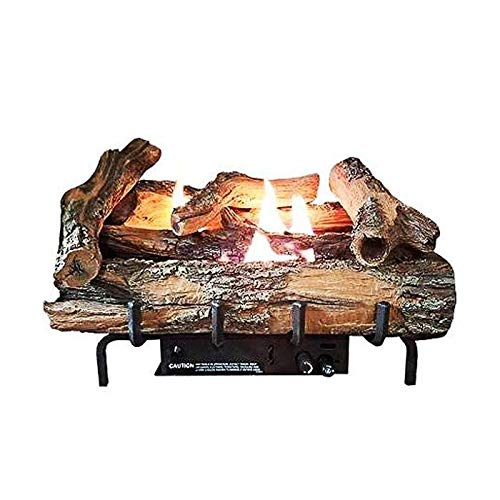 EverWarm Hearth & Home Low Country Timber 18'' Vent-Free Log Set with Millivolt Control - NG