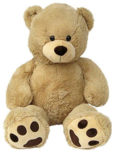 Wagner 9055 - Riesen XXL Teddybär 100 cm groß in hell-braun - Plüschbär Kuschelbär Teddy Bär in beige