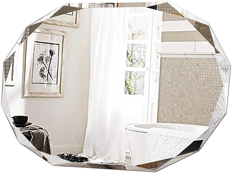 Badezimmerspiegel Make-up Frameless Kristallwandmontage Kosmetik Diamant Multi-Edge Vanity Flur Rasierspiegel Groes Schlafzimmer horizontal oder Grünikal