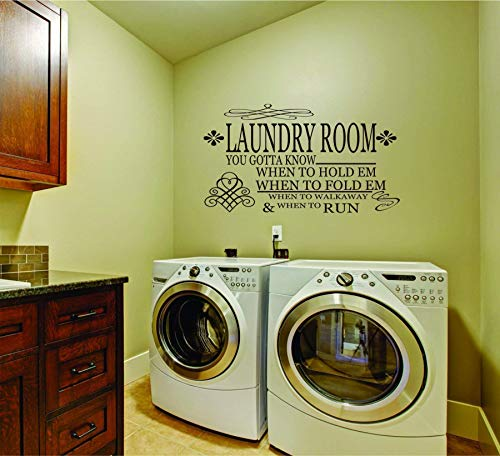 Laundry Room Decal - Gambler Laundry Wall Decal - SF