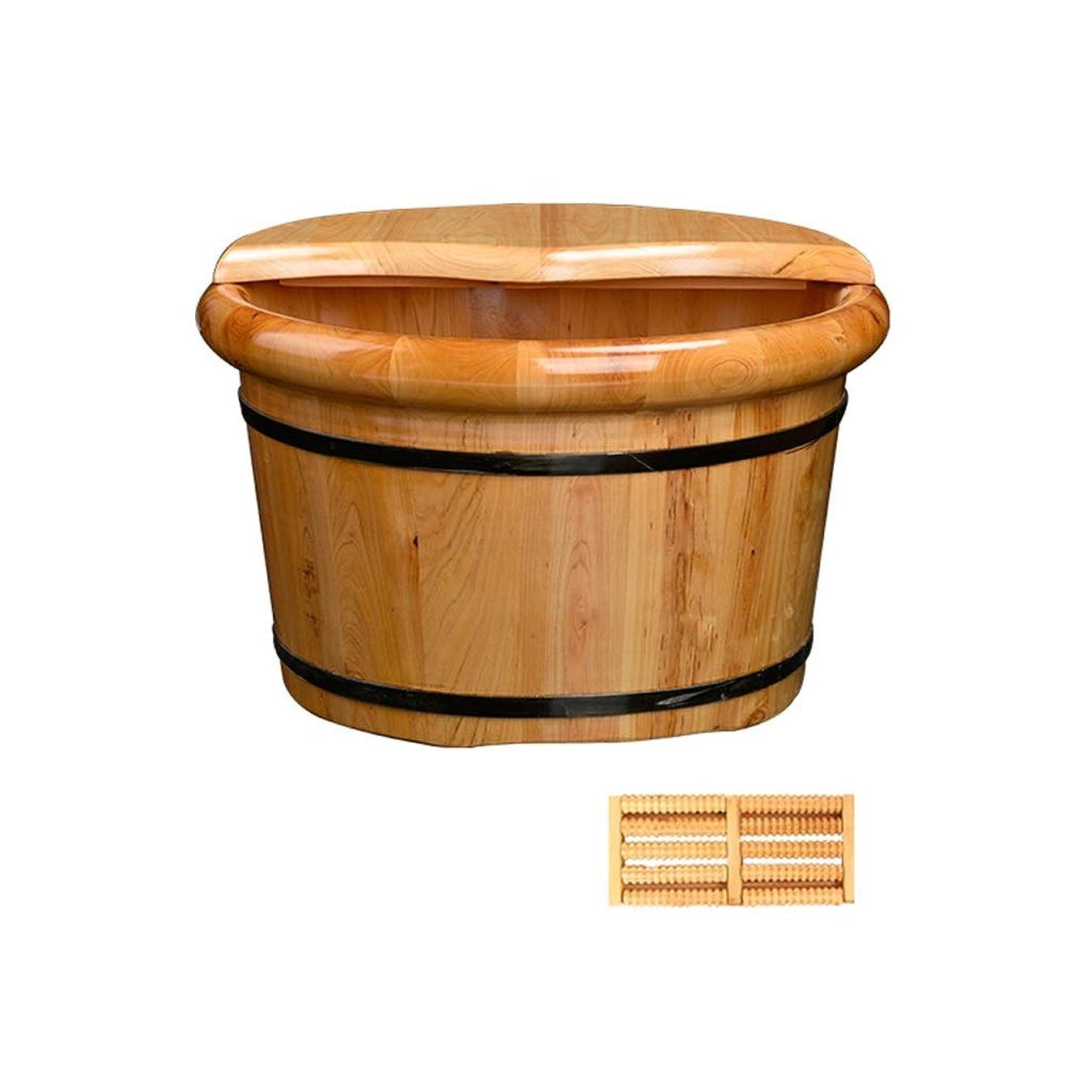 むしろペック議論するソリッドウッドフットバスバレル木製足首のフットタブを浸すのに完璧なフットマッサージベイスン (Color : B)