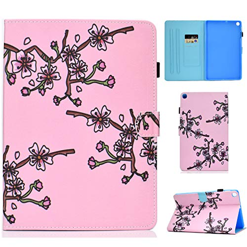 Jajacase Galaxy S6 Lite 10.4 2020 Case,SM-P610/P615 Tablet Case,PU Leather Multi-Angle Viewing Folio Stand Cover Case for Samsung Galaxy TAB S6 Lite 10.4 2020 SM-P610/P615-Plum Flower