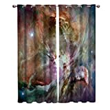 FortuneHouse8 Blackout Curtains Thermal Insulated Gorgeous Galaxy Space Orion Room Drapes Window Curtain for Bedroom Living Room Set of 2 Curtain Panels Home Fashion 52x72inch