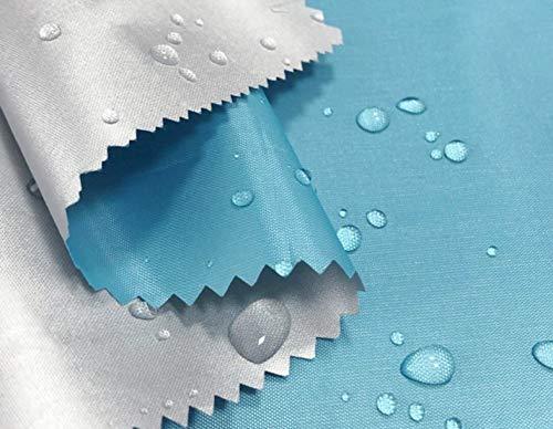 WellieSTR 1,1 yardas (1,5 m de ancho) Delgado/ligero poliéster plata membrana compuesta tela de poliéster tela impermeable tela paraguas tienda Material tela toldo - azul cielo