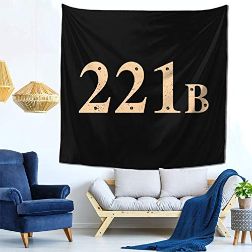 1033 221b Baker Street Sherlock Holmes Address Wall Hanging Tapestry for Living Room and Bedroom Spreads Good Vibes 59×59 Inches