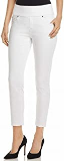 Jag Jeans Womens Jeans White US Size 14 Pull On High Rise Ankle Stretch