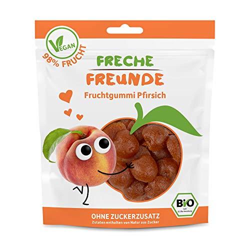 Freche Freunde Bio Fruchtgummi Pfirsich, Frucht Snack ohne Zuckerzusatz, mit 98 {1b351b811a70e1d4e093bca1a365f97916212b4b000a3f42983d884130bc6005} Fruchtanteil, vegan, 14er Pack (14x 30 g)