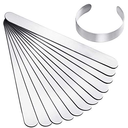 YDong 15 StüCk Armband Armreif Rohlinge, Edelstahl Blank Armband Manschette Armband, Armband, Armband,