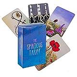 M STAR Las espaciosas Tarjetas de Tarot, la Cubierta del Tarot Utilizada para la adivinación y predecir el Futuro, los Juegos de Cartas de Tabla adecuados para Las Fiestas.