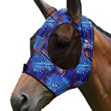 Harrison Howard Superior Comfort - Máscara de mosca para caballo con protección UV de malla suave, color azul