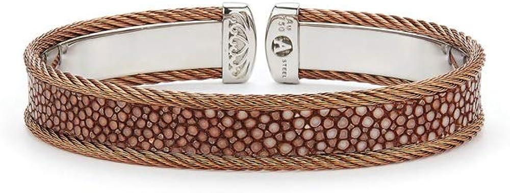 Alor Bronze Cable & Brown Stingray Cuff