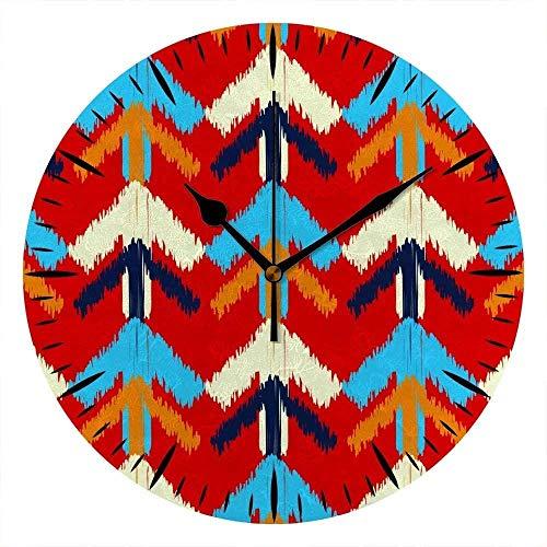 NIUMM Reloj De Pared Tablero Étnico Bohoe Flechas Adorno Tribal Tradicional Tablero De Espuma De PVC Rojo Colorido para Oficina Hogar