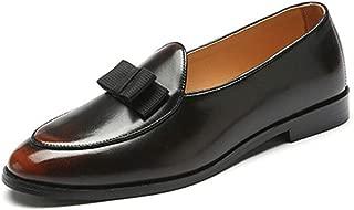 Dunhuangshilianfengshangmaoyouxiangongsi Chaussures Richelieu Classiques en Cuir Verni Oxford pour Homme Chaussures en Cuir Noir Brillant - 39 EU