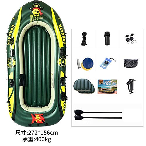 ouyalis Kayak Schlauchboot Tragbares Gummiboot Verdickt Verschleißfestes Kajak Schlauchboot-Quad Boot A1