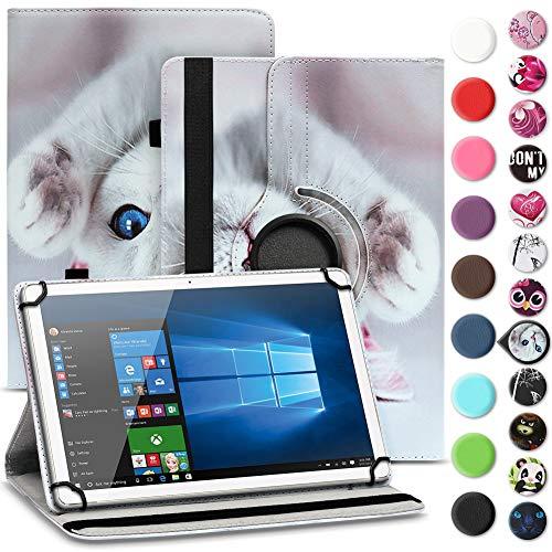 Nauci Tablet Hülle für Xido Z120 Z110 X111 X110 Tasche Schutzhülle Hülle Cover aus Kunstleder Standfunktion 360° Drehbar, Farben:Motiv 10