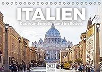 Italien - Das wundervolle Land im Sueden. (Tischkalender 2022 DIN A5 quer): Wundervolle Bilder aus Italien. (Monatskalender, 14 Seiten )