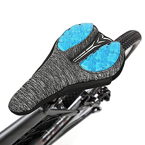 Cojín de asiento de bicicleta, funda de gel de bicicleta, asiento acolchado, cojín suave adicional para bicicleta, para bicicletas de montaña, bicicletas de carretera y bicicletas eléctricas.