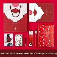 アジェンダ2021クリスマスノートA5プランナーオーガナイザードキブックジャーナルペンギフトボックスセットステーショナリー日記メモ帳DIYハンドブック