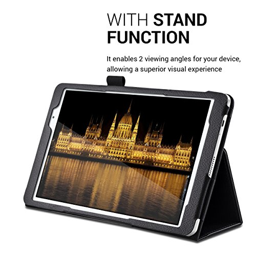 kwmobile Huawei MediaPad T2 10.0 Pro Hülle - Tablet Cover Case Schutzhülle für Huawei MediaPad T2 10.0 Pro - Schwarz mit Ständer - 5