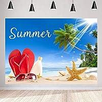 写真のためのZhy夏の背景 7x5ft / 2.1x1.5m 砂浜の背景 パーティーの装飾用品写真撮影小道具BJQQST102