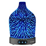 Essential Oil Diffuser, SZTROKIA 3D Galaxy Aromatherapy Diffuser,200ML Aroma Essential Oil Cool Mist Humidifier with 24 Color Changing,Metal Case Base,Waterless Auto Shut-off