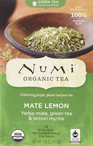 Pack of 4 x Numi Tea Mate Lemon Rainforest Green Tea - 18 Bags