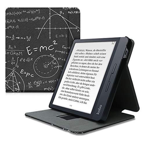 kwmobile Funda Compatible con Kobo Libra H2O - Carcasa para e-Book de Cuero sintético - física Blanco/Negro