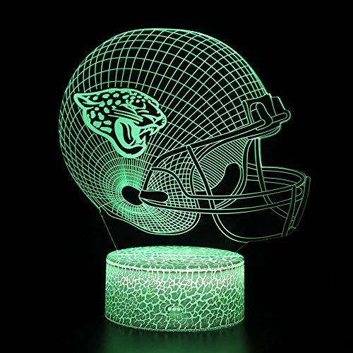 3D LED Night Light Lamp 3D Illusion Lamp for Kids Dimmable Brightness Light for Home Decoration and Gifts for Lovers, Parents, Friends Rugby Team Helmet-Touch