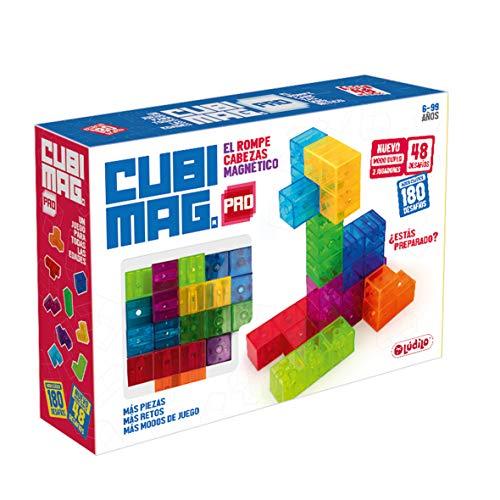 Cubimag Pro – Lernspiel für Kinder, magnetisches Puzzle, Reisespiel, Lernspielzeug, 3D-Puzzle, fördert die Logik und räumliche Vision