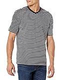 Amazon Essentials - Maglietta a maniche corte con scollo a V, da uomo, vestibilità ampia, Nero/Bianco, US M (EU M) - Confezione da 2