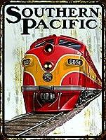 Southern Pacific Railroad ヴィンテージレトロメタルブリキ看板 8 x 12インチ 壁装飾 キッチン ガレージ レストラン ホテル 装飾 ギフト 新築ホーム装飾