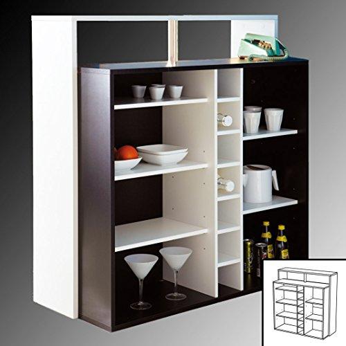 habeig KÜCHENTRESEN schwarz weiß Theke Bar Tresen Stehtisch Empfangstresen Küchenbar (Schwarz/Weiss)