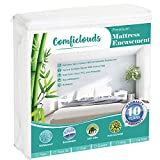 Comficlouds Premium Zippered Mattress Encasement, Waterproof, Bed Bug & Dust Proof 6-Sided Mattress Protector Cover King Size, Hypoallergenic Bamboo Terry Surface,Soft & Breathable,Vinyl Free…